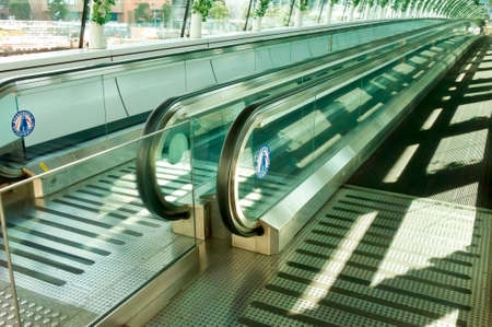 Automatic escalator for sidewalks Stock Photo