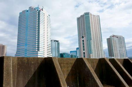 Een zicht op het gebouw in de Golf gebied Stockfoto