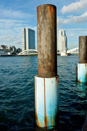 antique, background, harbor, metal, old, retro, rust, rusty, sea breeze, steel pillar, wave, wind snow