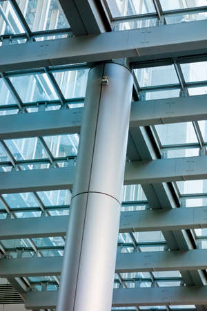 Pillars and ceiling spaces of commercial facilities Stock Photo