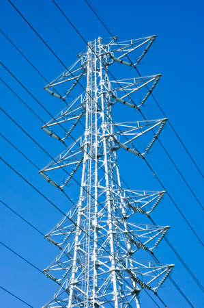 Transmission line tower 写真素材