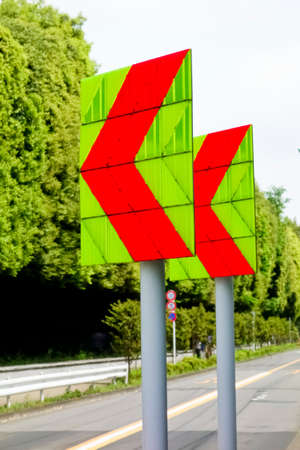 Traffic sign arrow