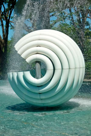 Circular object installed in fountain park