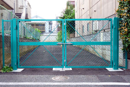 Iron gates closed for crime prevention