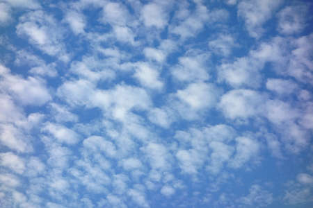 An attractive sea of clouds that spreads over the blue sky Фото со стока