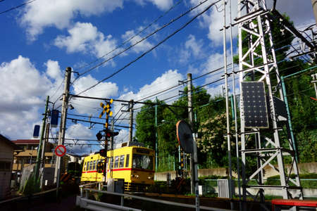 Toden Arakawa Line connecting Waseda and Minowa in Tokyo