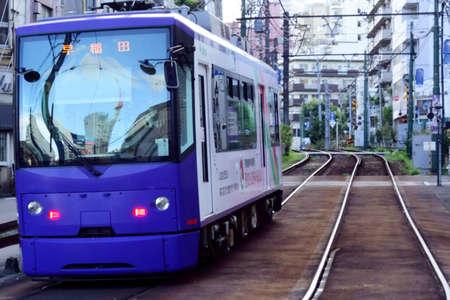 The only tram that runs in Tokyo Otsuka Редакционное