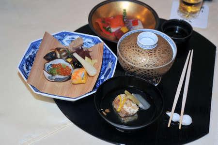 Very artistic kaiseki, Japanese cuisine