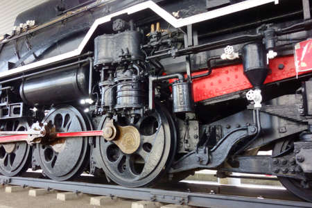 Retro and antique steam locomotive wheels