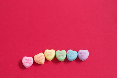 Rainbow Heart Shaped Candy with Text