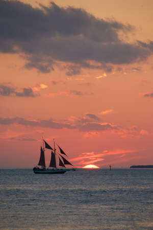 A beautiful sunset off the coast of Key West