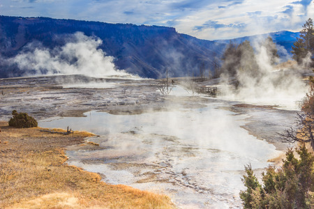 wil: Hot springs of Montana Stock Photo