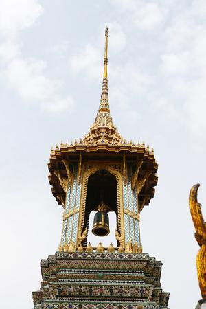 Bell tower on the castle high artistic splendor. photo