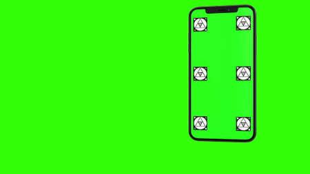 Blank green screen
