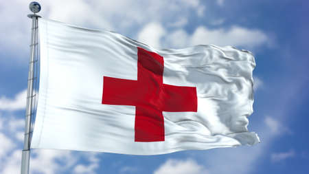 Flag of the Red Cross - the International Movement