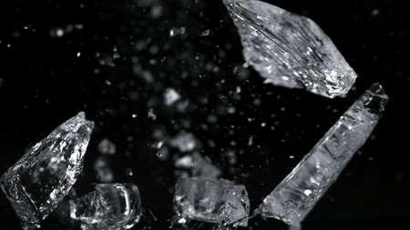 Ice Burst isolated black background