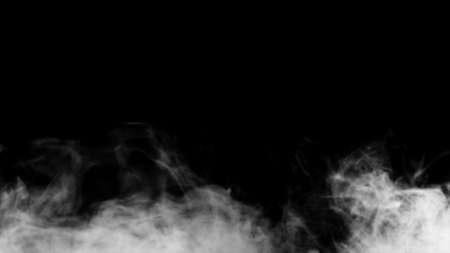 White smoke collection on black background. Reklamní fotografie