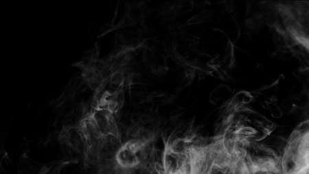 White smoke collection on black background. Imagens