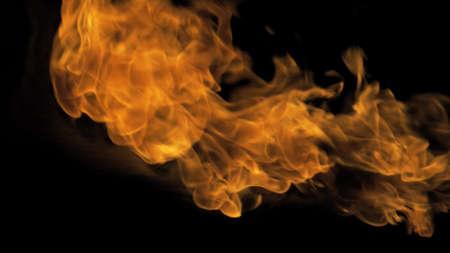 Fire flames on black background. Фото со стока