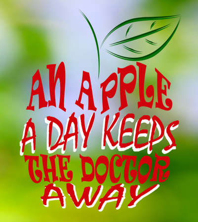 An apple a day keeps the doctor away photo