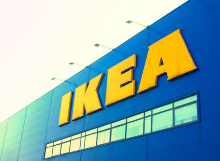 BUCHAREST, ROMANIA- OCTOBER 22: IKEA store sign on October 22, 2014 in Bucharest, Romania. IKEA is the world\\\\\\\\
