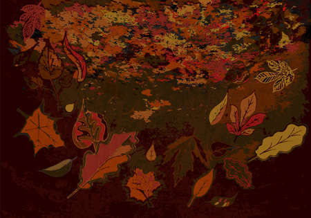 rust: Grunge Autumn Texture with Rust Effect in Marsala tones Illustration