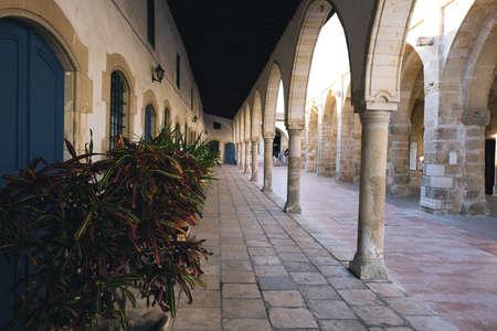 Arcs of Saint Lazarus Church in Larnaca, Cyprus.