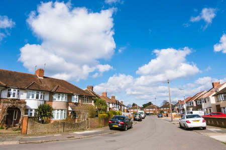 Beautiful sunny day on a street in Hayes Town