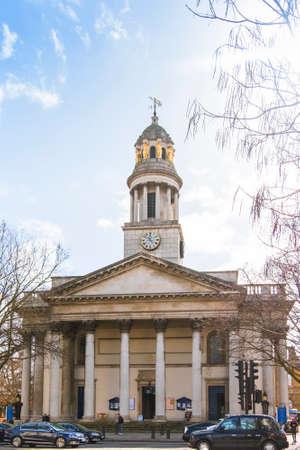 The parish church of St Marylebone, an Anglican church on the Marylebone Road in London, on a spring sunny day. Sajtókép