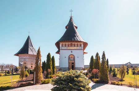 Zosin monastery in Moldavia on a sunny day in spring.
