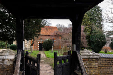 Entrance to St Dunstans Church through a wooden gate