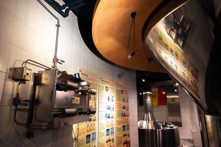 Section of the New story of beer in the Belgian Beer Museum, located in Grand Place. Redactioneel