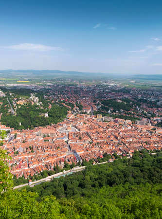 Brasov city in Transylvania on a perfect summer day