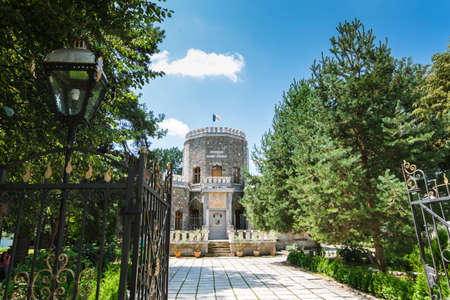 Sunny day at Iulia Hasdeu Castle, a house built in the form of small castle by Bogdan Petriceicu Hasdeu