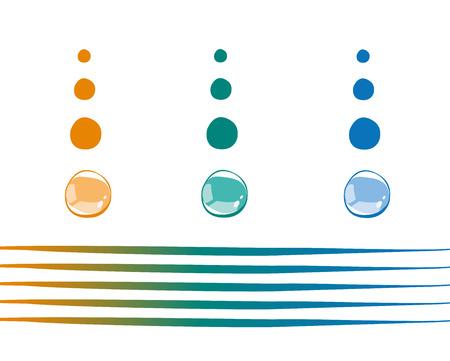 gocce di colore: Gocce di colore Vettoriali
