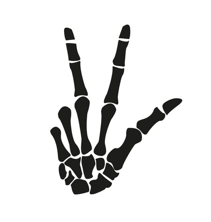 okay sign: skeleton hand