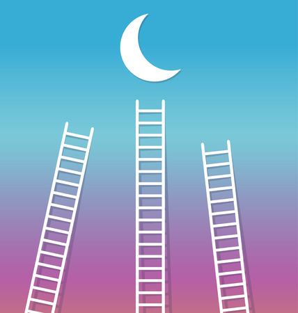 reach: Reach the Moonmoon stairs to reach the Moon reach sky blue violet sunset dream night landscape