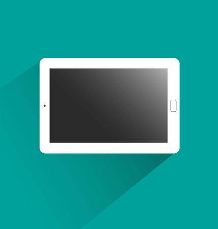 on white: mock up white tablet Illustration