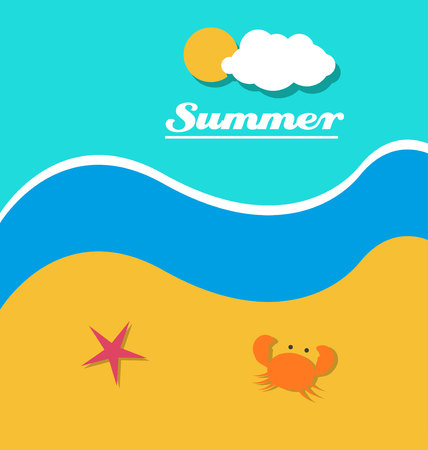 oceana: summer at the beach Illustration