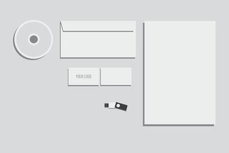 mock up: branding identity mock up Illustration