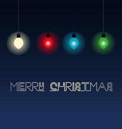 lyrics: background with bulb and Christmas lyrics