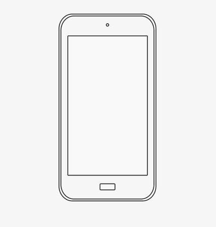 users video: smartphone mockup Illustration