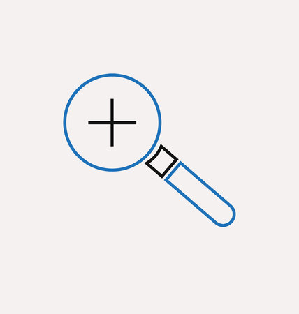 reading app: magnifying glass icon