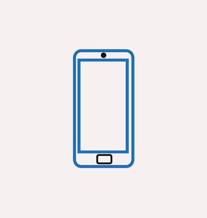 reading app: icons of smartphone Illustration