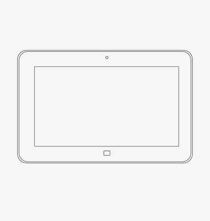 users video: Mock up of a tablet on a white background