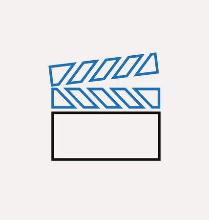 clapperboard: clapperboard icon Illustration