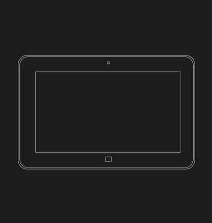 users video: Mock up of a tablet on a black background Illustration