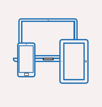 agility: icons of smartphone, tablet and notebook Illustration