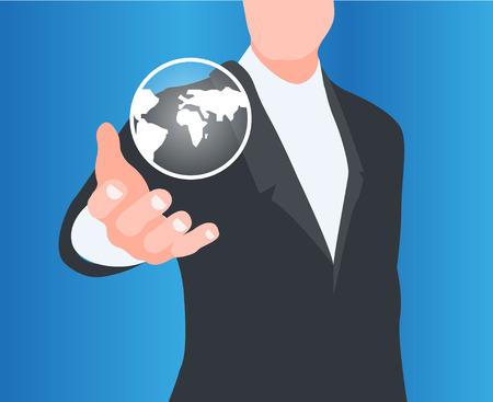 globalization: concept of globalization Illustration