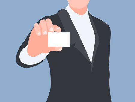 corporate image: illustration of a man teaching business card Illustration